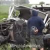 Ruta 51: Cuádruple choque entre camiones
