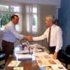 Comenzó la transición: Bolinaga recibió al intendente electo Olaeta