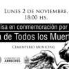 Lunes: Misa en conmemoración por el Día de Todos los Muertos
