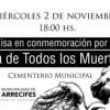 Misa en conmemoración por el Día de Todos los Muertos