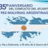 Actos por los 35 años del Conflicto del Atlántico Sur