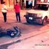 Accidente entre una moto y un móvil de la Patrulla Urbana