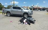 Accidente en el cruce de Intendente Blanco y Ruta 8
