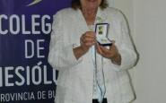 El Colegio de Kinesiólogos de la Provincia reconoció la trayectoria de Norma Ripoll