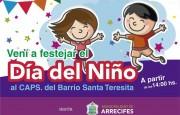 Santa Teresita festeja el día del niño este sábado