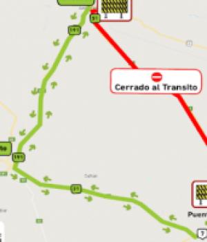 La Ruta 51 cerrada entre Arrecifes y Carmen de Areco