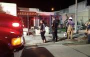 Bomberos acudieron a un llamado por incendio