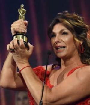 Mariel Di Lenarda «Martín Fierro» como movilera de radio