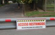 Cerraron accesos a la ciudad y vallan calles para mayor control