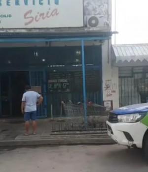 Intento de saqueo en un supermercado chino en Pergamino