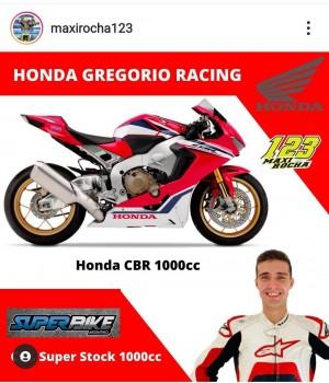 Maxi Rocha en el equipo oficial Honda