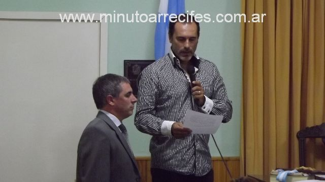 Marcos Pernicone.Intendente Provisional